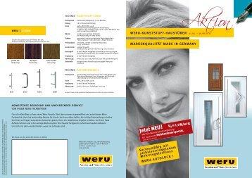weru-kunststoff-haustüren markenqualität made  ... - Ausbau-reich.de