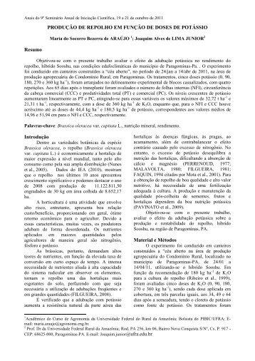 MODELO – RESUMO EXPANDIDO - PROPED - Ufra