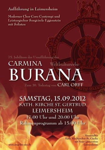 carmina burana - Ausgehen in Germersheim