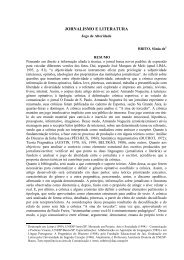 JORNALISMO E LITERATURA - Unesp
