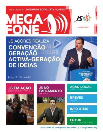 CONVENÇÃO GERAÇÃO ACTIVA-GERAÇÃO DE IDEIAS - JS Açores