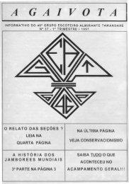 Gaivota Nº 37 - 1997 - 1º trimestre - Grupo Escoteiro Almirante ...