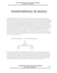 TRANSFERÊNCIA DE MASSA - Curso Técnico de Petróleo da UFPR