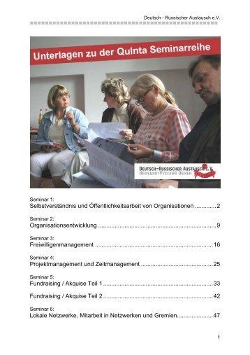 Seminar 1 - Deutsch Russischer Austausch eV