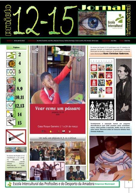 Jornal PROJECTO 12-15 N.º 5 (PDF) - Escola Intercultural