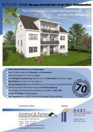 5 Wohnungen in Neu-Ulm Burlafingen - aust-wohnbau.de