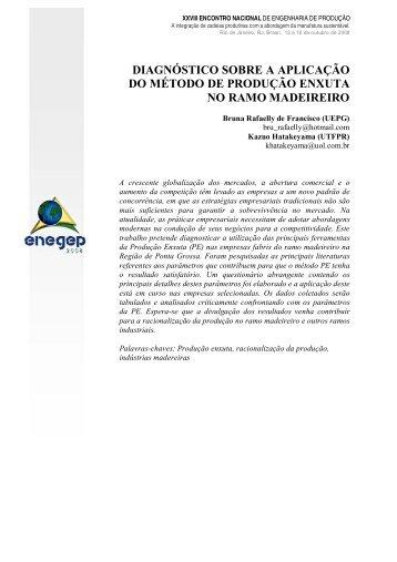 diagnóstico sobre a aplicação do método de produção ... - UTFPR