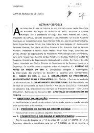 ACTA DA REUNIÃO DE 13.10.2011 - Câmara Municipal de Mafra
