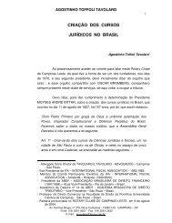 criação dos cursos jurídicos no brasil - Tavolaroadvogados.com