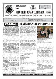 Boletim Nº 126 - Janeiro a Março de 2008 - Lions Clube de Castelo ...
