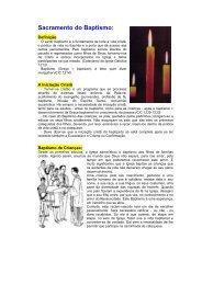 folheto informativo sobre o Baptismo em formato PDF