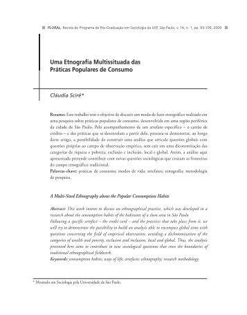 Uma Etnografia Multissituada das Práticas Populares ... - fflch - USP