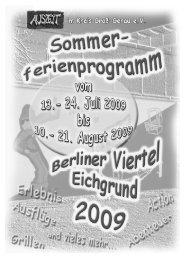 Sommerferienprogramm 2009 - bei Auszeit eV