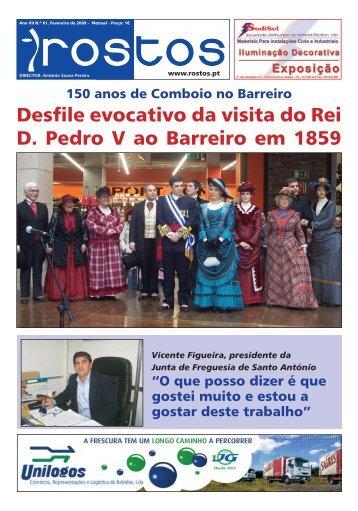 Desfile evocativo da visita do Rei D. Pedro V ao Barreiro ... - Rostos