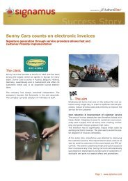 Sunny Cars counts on electronic invoices - AuthentiDate