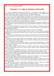 Flamengo 7 x 4: culpa da bebedeira do Heráclito - Bangu.net