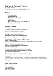 Poemas de Fernando Pessoa - EE JOSE DE ALENCAR