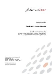 White Paper - Electronic time stamp - AuthentiDate