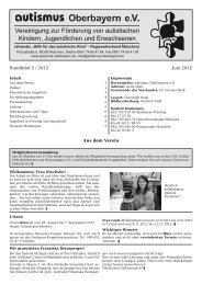 Rundbrief Juni 2012 - Autismus Oberbayern