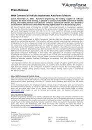 Press Release - AutoForm Engineering