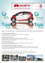 DER i-MiEV IST DA – FÜR EINE NEUE ART DES ... - Autohaus Raber