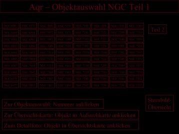 Aqr – Objektauswahl NGC Teil 1 - Astronomische  Vereinigung ...