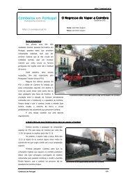 Comboios em Portugal O Regresso do Vapor a Coimbra Regresso ...