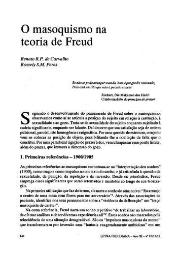 O masoquismo na teoria de Freud - Escola Letra Freudiana