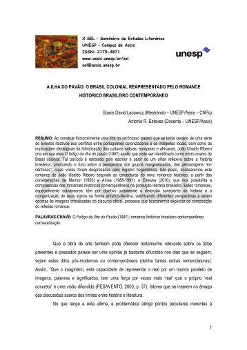1 A ILHA DO PAVÃO: O BRASIL COLONIAL ... - Unesp