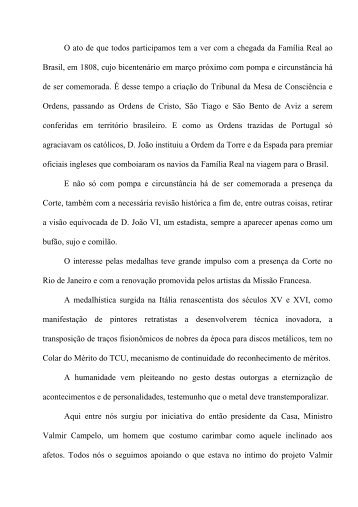 Discurso do ministro do TCU Marcos Vilaça durante - CNI