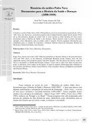 Memórias do médico Pedro Nava Documentos para a ... - NELI