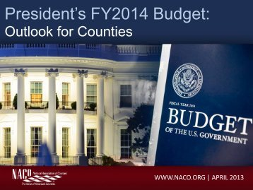 President's The President's FY2014 FY2014 Budget: Budget: