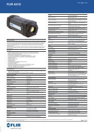 Datasheet FLIR A310 extended [PDF]