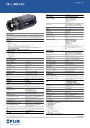 Datasheet FLIR A615 extended [PDF]