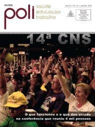 Revista Poli - saúde, educação e trabalho nº 21 - Escola Politécnica ...