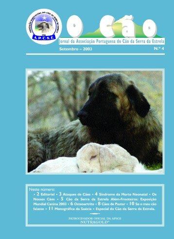 Jornal da Associação Portuguesa do Cão da Serra da Estrela