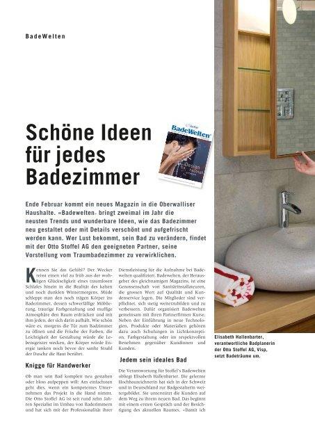 Schöne Ideen für jedes Badezimmer Kennen - Otto Stoffel AG