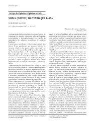 NOTAS (NOTES?) DO VENTO QUE PASSA - SciELO