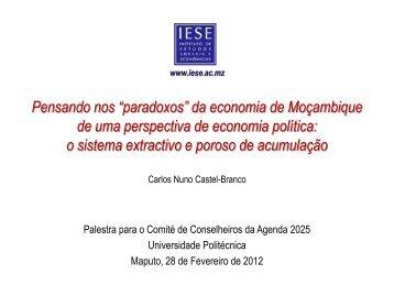 Pensando nos paradoxos da economia de Moçambique de uma ...