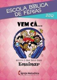 caderno da EBF 2012 - Igreja Metodista do Brasil