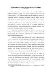 Informação, conhecimento e desenvolvimento - Adelino Torres