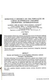 ESTRUTURA E DINÂMICA DE UMA POPULAçÃO DE LARVAS - ICB