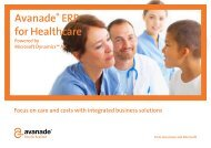 Brochure: Avanade ERP for Healthcare