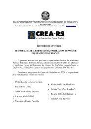 ROTEIRO DE VISTORIA ACESSIBILIDADE A ... - Crea-RS