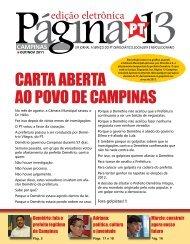 cARTA ABERTA AO POVO DE cAMPINAS - Página 13
