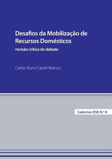 Cadernos Nº8 - Desafios da Mobilização de Recursos Domésticos