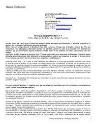 Article windows 7 - Avanade