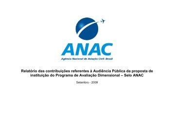 Relatório de Análise das Contribuições - Anac