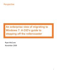 An enterprise view of migrating to Windows 7 - Avanade