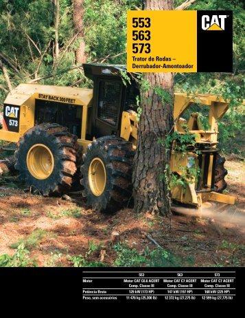 553 563 573 Trator de Rodas – Derrubador-Amontoador - Forestry